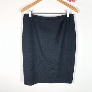 [CALVIN KLEIN] Navy Pinstripe Pencil Skirt